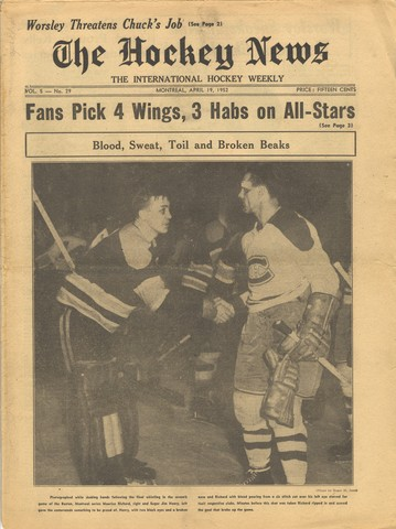 Boston Bruins Sugar Jim Henry & Maurice Richard - Shake Hands