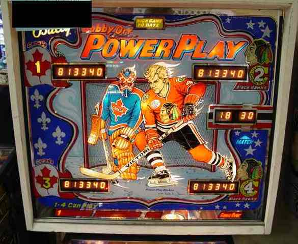 Pinball Machine Bobby Orr Power Play Scoreboard 1977