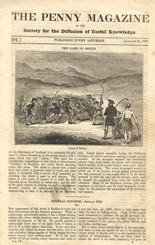 The Game of Shinty - The Penny Magazine - 1835