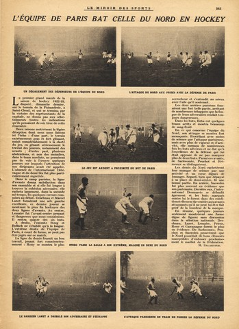 France Field Hockey - Le Miroir Des Sports - December 7 - 1922