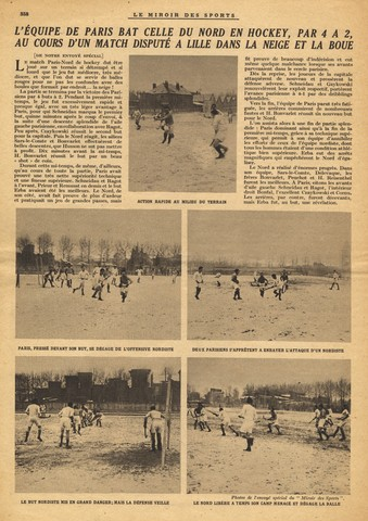 Field Hockey in the Snow - France - 1923 - Le Miroir Des Sports