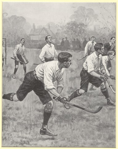 Field Hockey Game Action - Mens - 1904 - Print