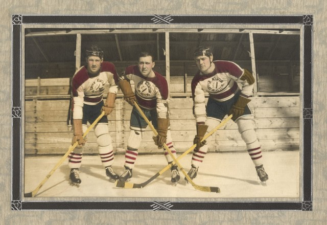 copper mountain blasters 3 ice hockey teammates circa 1950s hockeygods. Black Bedroom Furniture Sets. Home Design Ideas