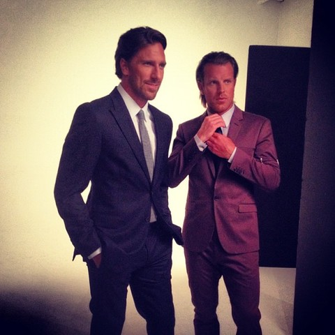 Henrik Lundqvist & Brad Richards Looking Sharp in Suits