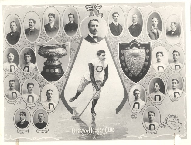 Ottawa Hockey Club - Champions of Canada  - 1901 - Team Photo