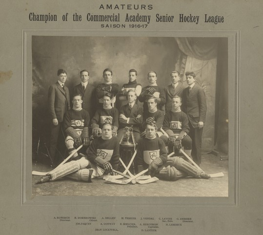 Champion of the Commercial Academy Senior Hockey League - 1917