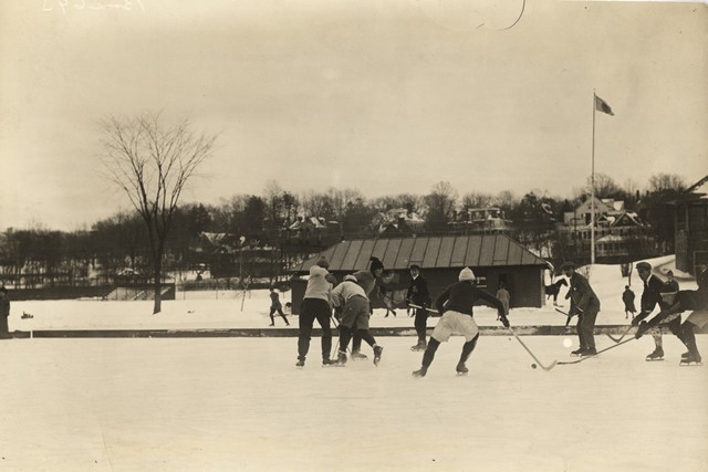 A Fun Game of Shinny - Early 1900s - Outdoor Rink