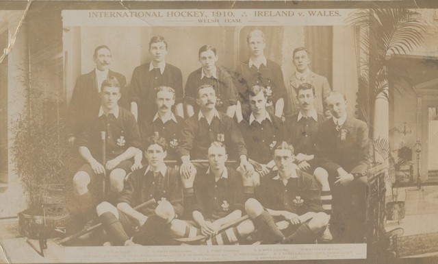 International Field Hockey - 1910 - Ireland v Wales - Welsh Team