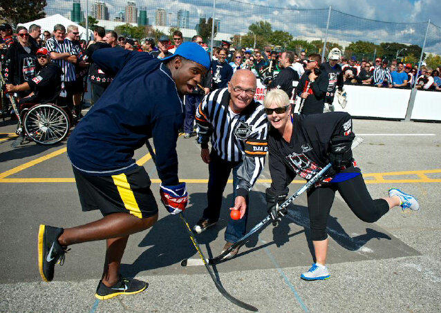 PK Subban & Elizabeth Manley At Road Hockey To Conquer Cancer