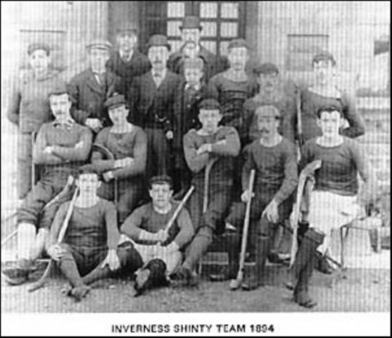 Inverness Shinty Team - Scotland - 1894