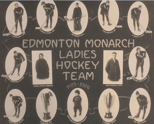 Edmonton Monarch Ladies Hockey Team - Champions - 1926