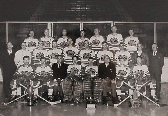 The Calgary Spurs Western Canada Senior Hockey League Champs