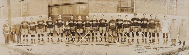 Montreal Canadiens Outside The Forum in Montreal - 1926