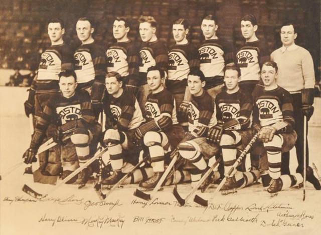Boston Bruins - Team Photo - Autographed - 1930