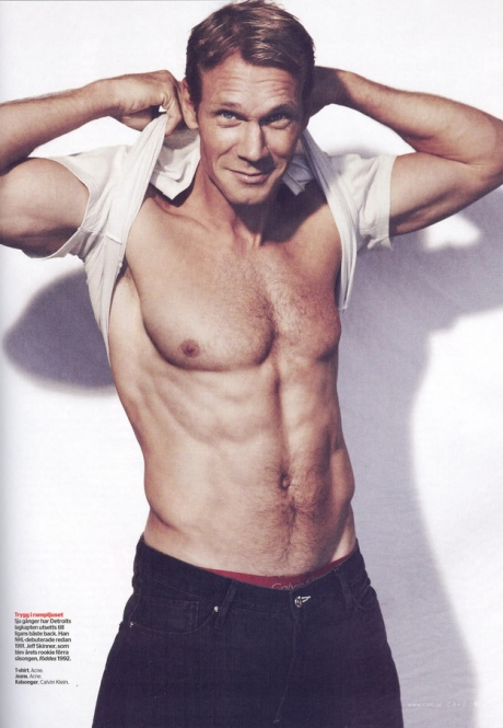 Nicklas Lidstrom Shirtless Wearing Calvin Klein Jeans