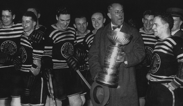 Chicago Blackhawks Owner Frederick McLaughlin   Stanley Cup 1934 ... 35e9758bd