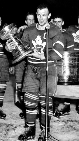 Teeder Kennedy Accepts The Stanley Cup - April 16, 1949