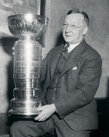 Frank Calder with The Stanley Cup - Circa 1930s