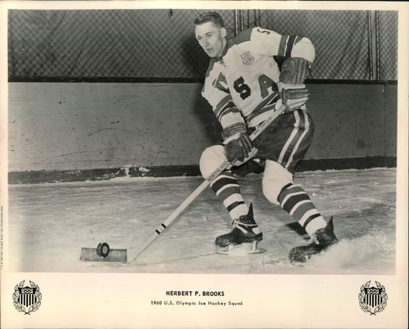 Herb Brooks - Herbert Paul Brooks Jr. - 1960 USA Olympic Team Photo