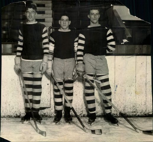 Dartmouth Indians - Myles Lane, Ed Jeremiah, Ed Armstrong - 1928