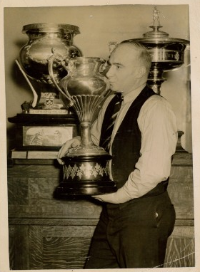 Red Stuart Kisses the Allan Cup - 1935 - Halifax Wolverines