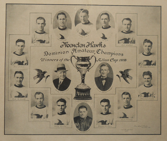 Moncton Hawks - Allan Cup Champions - 1933