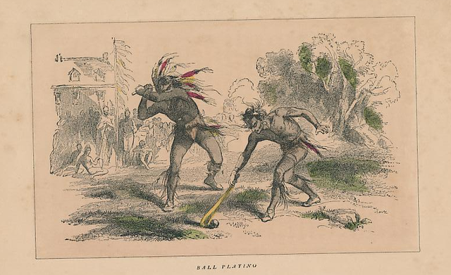 First Nations - Ball Playing - circa 1850