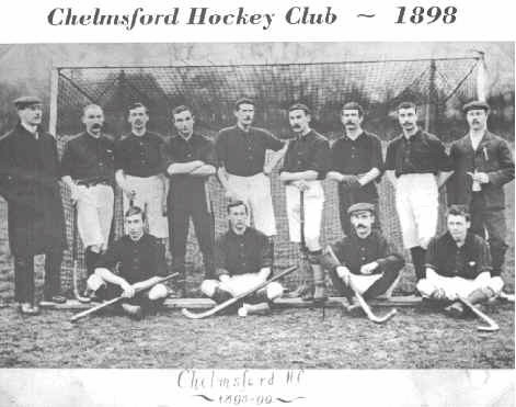 Chelmsford Hockey Club - Essex - England - 1898 - Antique Hockey