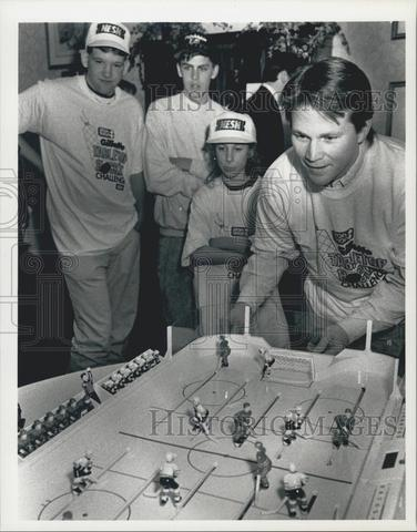 Andy Moog - Playing some Table Top Hockey - Boston - 1992