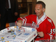 Dominik Hasek Playing Table Top Hockey - 2010