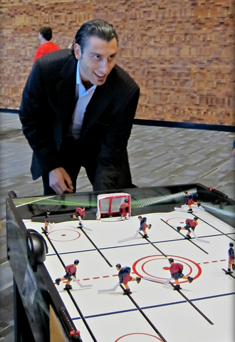 Roberto Luongo Playing Table Hockey - 2010