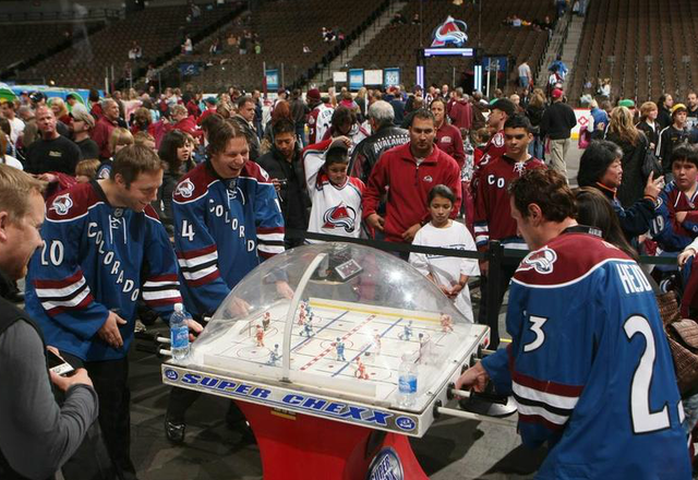 Milan Hejduk & John-Michael Liles Playing Bubble Hockey - 2009