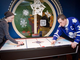 Dion Phaneuf Playing Air Hockey @ Maple Leafs Visit To Sick Kids