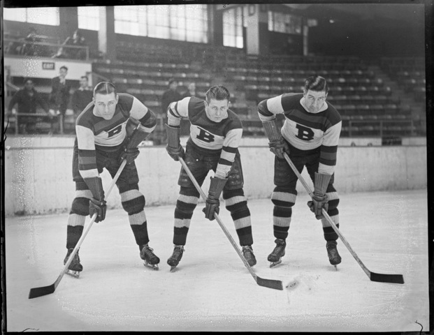 Boston Bruins - Dit Clapper, Max Kaminsky & Marty Barry - 1935