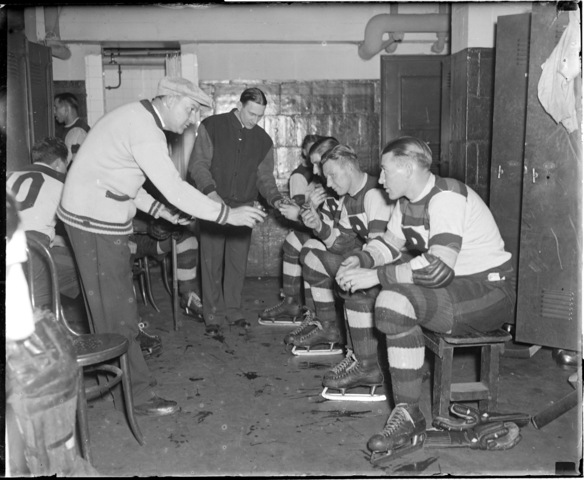 Boston Bruins Locker Room - Boston Garden - 1930s