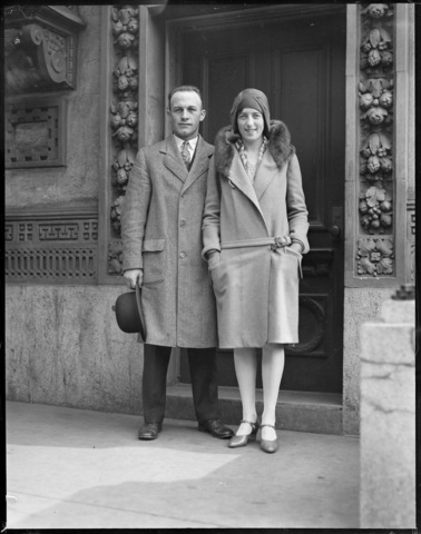 Eddie Shore and Kate Shore - Newlyweds - Boston - 1930s