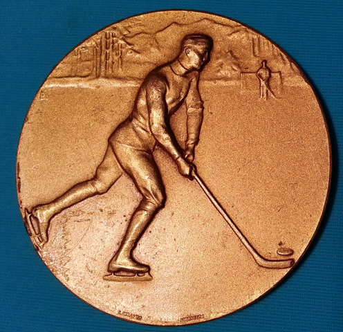 Tatra Cup Medal from 1st Ice Hockey Tournament in 1929 - Poprad