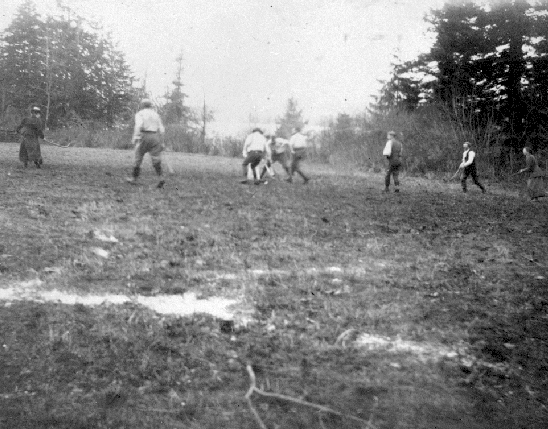Saturna Island - New Years Day Field Hockey Game - 1898