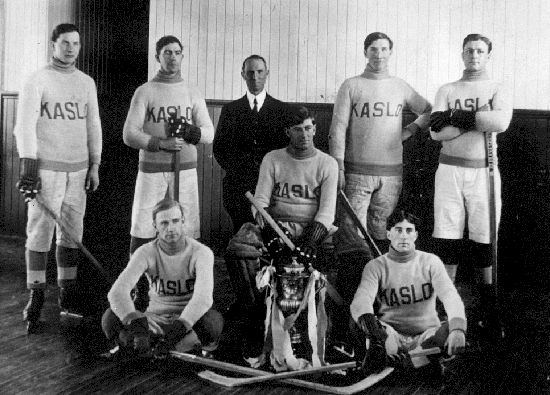 Kaslo Hockey Team - Senior Men - Ice Hockey Champions - 1919