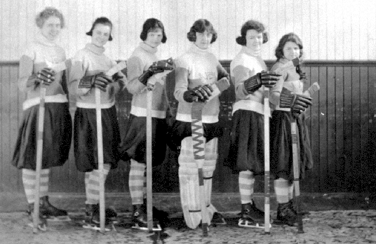 Kaslo Ladies Hockey Team - 1924