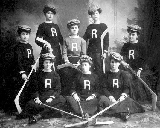 Revelstoke Womens Hockey Team British Columbia Early