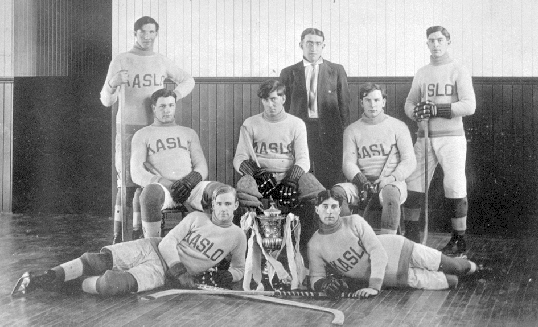 Kaslo Hockey Team - Senior Men - Ice Hockey Champions - 1914