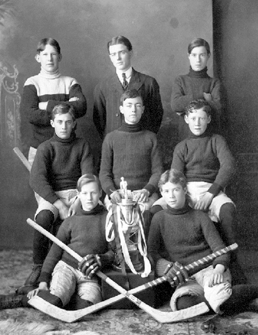 Rossland Hockey Team - Junior Boys - Ice Hockey Champions - 1908