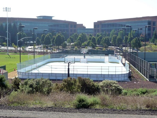 Google Head Office With Inline Hockey Court for employees