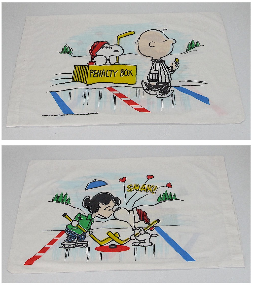 Penalty Box Hockey Snoopy Wiring Diagrams Green Usb Switch Circuit Diagram Projects Nonstopfree Pillowcase 1970s Design With Charlie Brown Lucy Rh Hockeygods Com Funny Water Polo