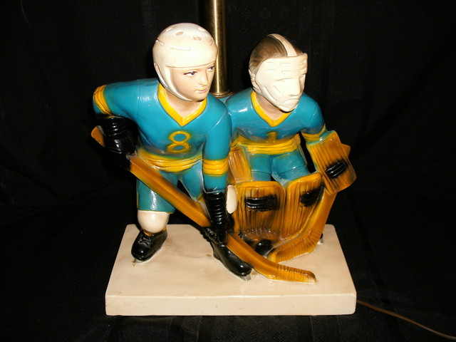 Vintage Table Lamp - Ice Hockey - 1970s
