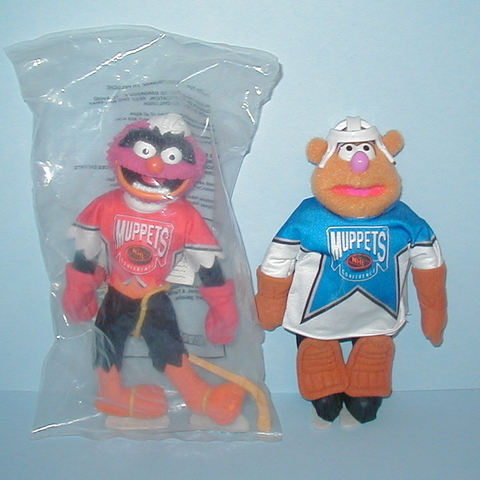 McDonalds Muppets - Goalie Fozzie & Animal - NHL Conference