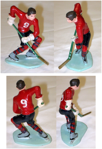 Cake Topper - Wilton Cake Decorating - Ice Hockey Player - 1971