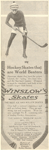 Newspaper Ad - Winslow's Skates - 1912
