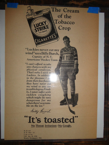 Antique Lucky Strike Cigarettes Ad - New York Americans - 1928